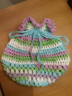 Verigated Pink Yarn Dragon Egg Pouch