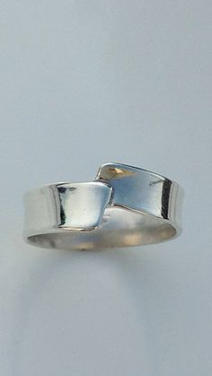 Sterling zilveren Band Ring van CopperfoxGemsJewelry op Etsy