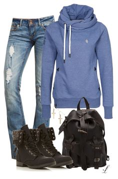 """""""Untitled #467"""" by sherri-leger ❤ liked on Polyvore featuring Naketano, MAXXMAXIMUS, Head Over Heels by Dune and H&M"""