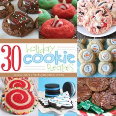 30 Holiday Cookie Recipes at Holiday Cookie Recipes, Holiday Baking, Christmas Desserts, Christmas Treats, Christmas Baking, Holiday Treats, Cookie Ideas, Holiday Fun, Christmas Diy