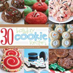 30 Holiday Cookie Recipes at artsyfartsymama.com #Christmas #cookie #recipe