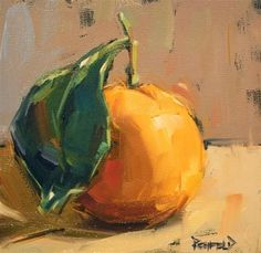 "Daily+Paintworks+-+""Satsuma+on+Black+Gesso""+-+Original+Fine+Art+for+Sale+-+©+Cathleen+Rehfeld"
