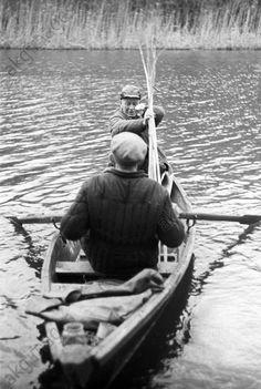 Soviet writer Mikhail Alexandrovich Sholokhov, fishing near Stanitsa Veshenskaya.