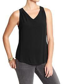 Women's Back-Cutout Sleeveless Tops