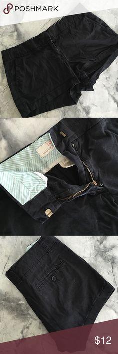 Black J.Crew Chino Shorts Perfect condition, black chino shorts from J.Crew J. Crew Shorts