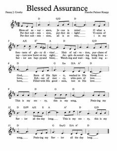 Free Sheet Music for Blessed Assurance. Enjoy!