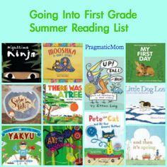 Rising Kindergarten summer reading list, going into first grade reading list, 1st grade reading list,