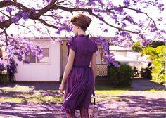Purple Reign: ru_glamour — LiveJournal Purple Love, All Things Purple, Shades Of Purple, Purple Dress, 50 Shades, Deep Purple, Purple Flowers, Purple Stuff, Marie Claire Australia