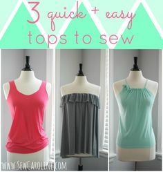 THREE quick + easy tops to sew for Summer