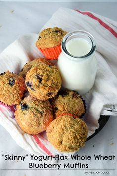 Whole wheat blueberry muffins packed with flaxseed & yogurt pack just the right sweetness and are super soft with a crunchy cinnamon-sugar topping!
