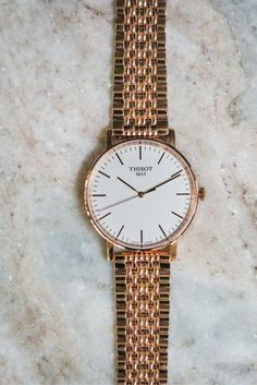 The new Tissot Everytime in Rose Gold is everything. Trendy Watches, Cute Watches, Ladies Watches, Women's Watches, Bollywood Jewelry, Rose Gold Watches, Perfume Collection, Christmas Gifts For Women, Makeup Bags