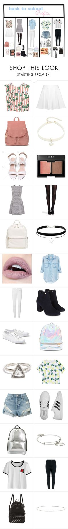"""""""back to school outfits"""" by ammarah11 on Polyvore featuring MANGO, Alice + Olivia, TOMS, Design Lab, Charlotte Russe, Cameo Rose, SPANX, BP., Rails and Burberry"""