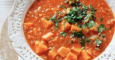 Zupa z batatów, soczewicy i papryki Thai Red Curry, Ethnic Recipes, Food, Essen, Meals, Yemek, Eten