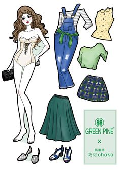 illustration choko #illustration #Paper #Dolls #Shoe #fashion #clothing #pretty #girl