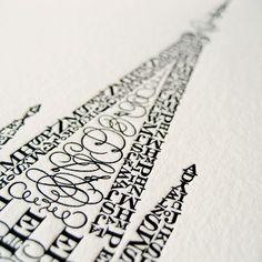 "Cameron Moll, LLC — Salt Lake 16""x24"" Signed Letterpress Poster"