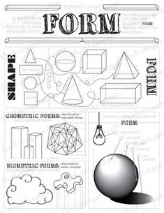 Elements of Art Worksheets: Visual Art Mini Lesson for MS and HS Kindergarten Art Lessons, Art Lessons For Kids, Art Lessons Elementary, Elements Of Art Texture, Elements Of Art Space, Elements Of Design, Line Art Lesson, Art Lesson Plans, Art Education Projects