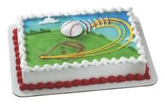 Baseball - Extreme Magnet, Sheet Cake | Ambrosia Bakery