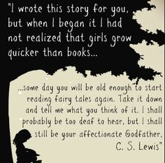 Amazing! It would be so amazing to have C.S. Lewis as your godfather!