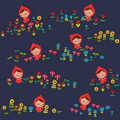 Meadow Sprites fabric by berrysprite on Spoonflower - custom fabric