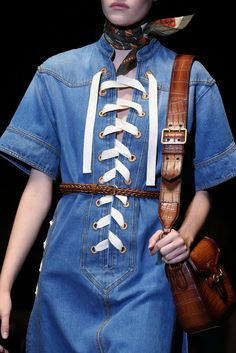 We see very tailored denim this past runway. Gucci Spring 2015 Ready-to-Wear - Details - Gallery - Look 30 - Style.com