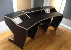 Home Studio Desk, Music Studio Room, Studio Table, Studio Studio, Studio Design, Recording Studio Desk, Guitar Storage, Custom Desk, Simple Desk
