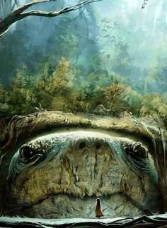 See the turtle of enormous girth, On his back he holds the Earth.....Stephen King