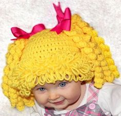 Cabbage Patch Crochet Hat http://thewhoot.com.au/whoot-news/crafty-corner/cabbage-patch-crochet-hat