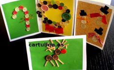 http://cartulina.es/ideas-para-navidad-manualidades/ Tutorial con fotos paso a paso