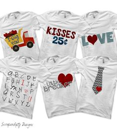 Use these valentine designs to make some unique shirts for your little man. He will break all the hearts with these unique designs! Purchase