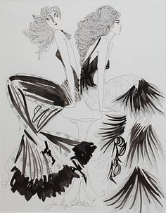 Jane Ryan ''Fringe'' #indianink #art #drawing #painting #blackandwhite #DukeStreetGallery Street Gallery, Tinta China, Ink Pen Drawings, Vogue Australia, Sonia Rykiel, Textile Design, Street Art, Chinese, Illustration