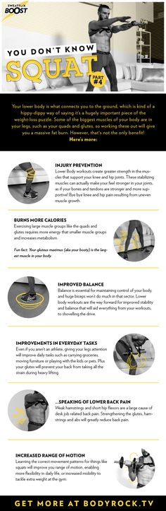 Check out the benefits of squats and add this exercise to your workout today. for more health and fitness go to bodyrock.tv