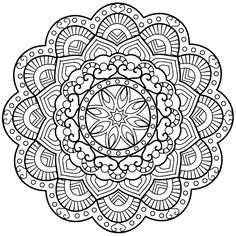 Mandalas Coloring Pages, Relax and Meditate - Mandalas, Geometric Mandala, Mandala Dots, Mandala Pattern, Mandala Tattoo Design, Mandala Drawing, Mandala Coloring Pages, Coloring Book Pages, Colorful Drawings, Color Patterns