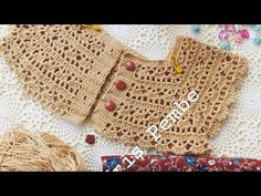 Crochet Baby Dress Pattern, Crochet Fabric, Crochet Stitches, Crochet Toddler, Crochet Girls, Crochet For Kids, Baby Knitting Patterns, Crochet Patterns, Magia Do Crochet