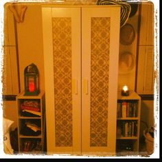 DIY closet doors.. Proof's in the pudding, this is MY closet! Thanks, Pinterest!