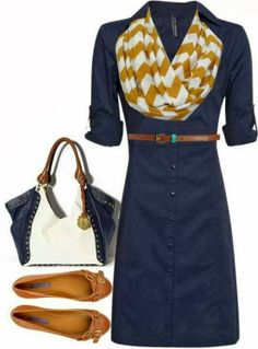 Blue long jacket, scarf, hand bag and slipper for fall. This is my favorite color combo of the season. And this is a great work outfit that you can transform easily into a go right out from work outfit w the girls