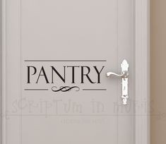 Pantry Door Kitchen Vinyl Decal