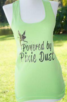 Tink Half Marathon: Powered by Pixie Dust Running Tank by adivineevent, $27.99