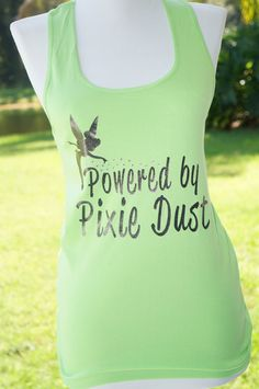 Tink Half Marathon: Powered by Pixie Dust Running Tank by adivineevent, $27.99