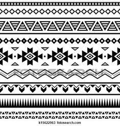navajo border designs. Interesting Navajo Aztekisch Mexikanisch Seamless Muster Groe Illustration Anschauen Inside Navajo Border Designs