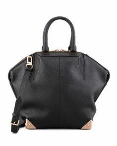 V1HV7 Alexander Wang Emile Tote Bag, Black/Rose Golden