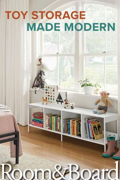 Make toy cleanup easy with modern toy storage solutions from Room & Board.