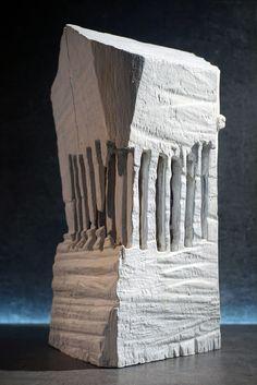 n° 1718 - by Philippe Chesneau - Cedar wood - Dim. H 26 x L 13 x P 12 cm French Sculptor, Cedar Wood, Sculptures, Iron, Cedar Lumber, Cedar Trees, Sculpture, Steel