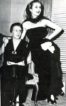One of the last pictures of Carole Lombard and her mother, Bess Peters, in Indianapolis on the night of January 15, 1942. The two were killed in a plane crash the next day.