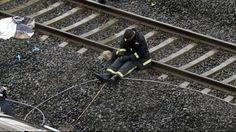 Treinongeval Spanje, uitgeputte brandweerman...