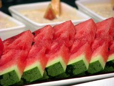 Did you know watermelon is one of the BEST foods you can eat? Watermelon is a heavyweight in the nutrient department. A standard serving (about 2 cups) has one-third of a day's vitamins A and C, a nice shot of potassium, and a healthy dose of lycopene for only 80 fat-free, salt-free calories. And when they're in season, watermelons are often locally grown, which means they may have a smaller carbon footprint than some other fruits.