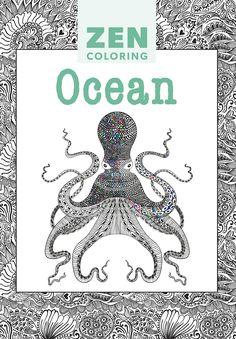 Zen coloring book Ocean