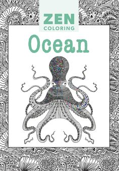 Zen coloring book Ocean