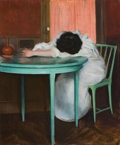 Tired, ca 1895-1900,  Ramon Casas. Spanish (1866 - 1932)  Talk about art that speaks to you...