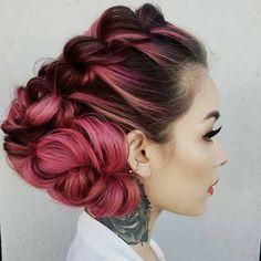 STYLIST SPOTLIGHT: simply stunning!   styled by @heatherchapmanhair #hair #hairinspiration #hairstylist #cosmetologist #colorist #pinkhair #braids #updo #modernsalon #americansalon #thecutlife...
