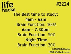 #2224 WOW!!!!!!!! if you want to make sure that your studying correctly study @ 4-6 am.